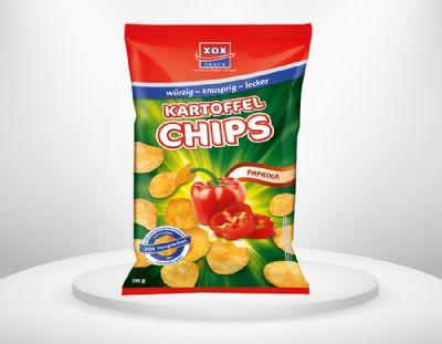 200g XOX Kartoffelchips Paprika
