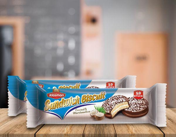 Sandwich Biscuit Coconut Marshmallow