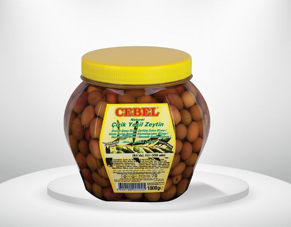 Gr�ne Oliven verkratzt